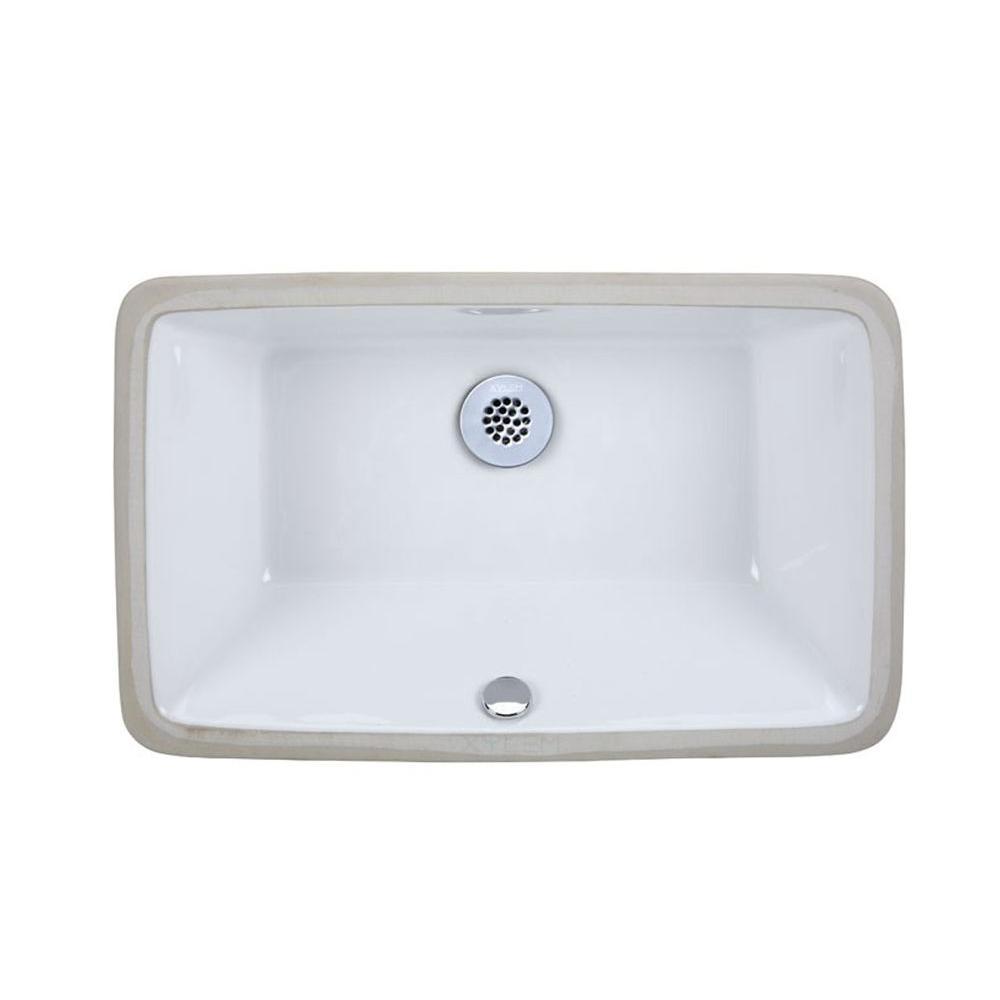 RYVYR Undermount Bathroom Sink in White