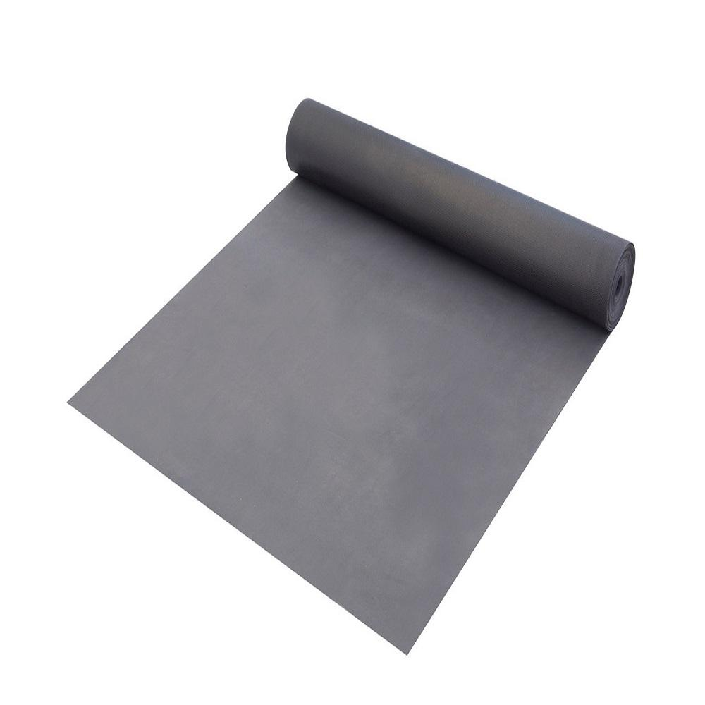 Dekorman HD PVC100 sq. ft. / roll, 1.5mm Thickness + 0.15mm PE Film Gray Underlayment for LVT, SPC, Laminate, Floated Flooring