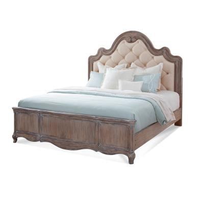 Genoa Tufted Grey King Bed