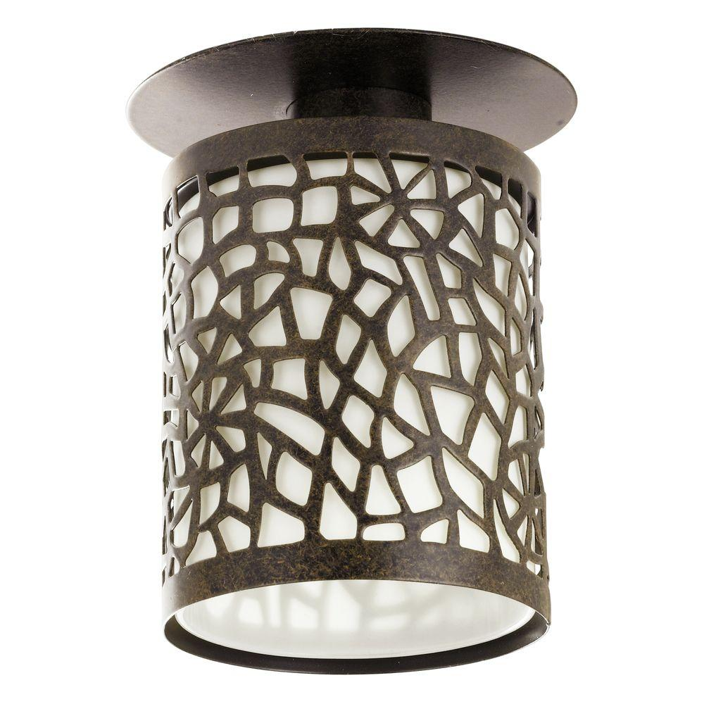 Eglo Almera 1-Light Antique Brown Flushmount Ceiling Pendant