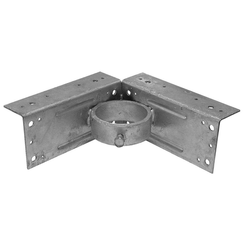 YARDGARD 2-3/8 in. Galvanized Steel Corner Wood Adapter