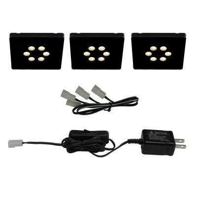 Black LED Square Light Kit (3-Piece)