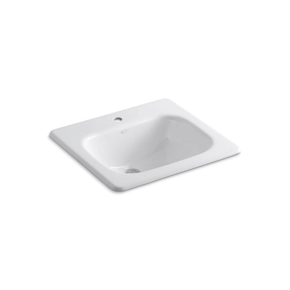 kohler bathroom sinks kohler tahoe drop in cast iron bathroom sink in white with 13384