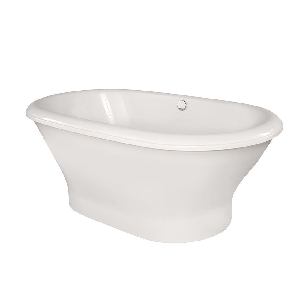 Hydro Systems Harrisburg 5.8 ft. Freestanding Air Bath Tub without ...