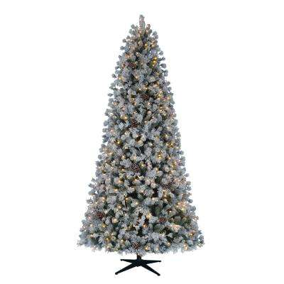 9 ft. Pre-Lit LED Lexington Artificial Christmas Tree with Warm White Lights and Pinecones