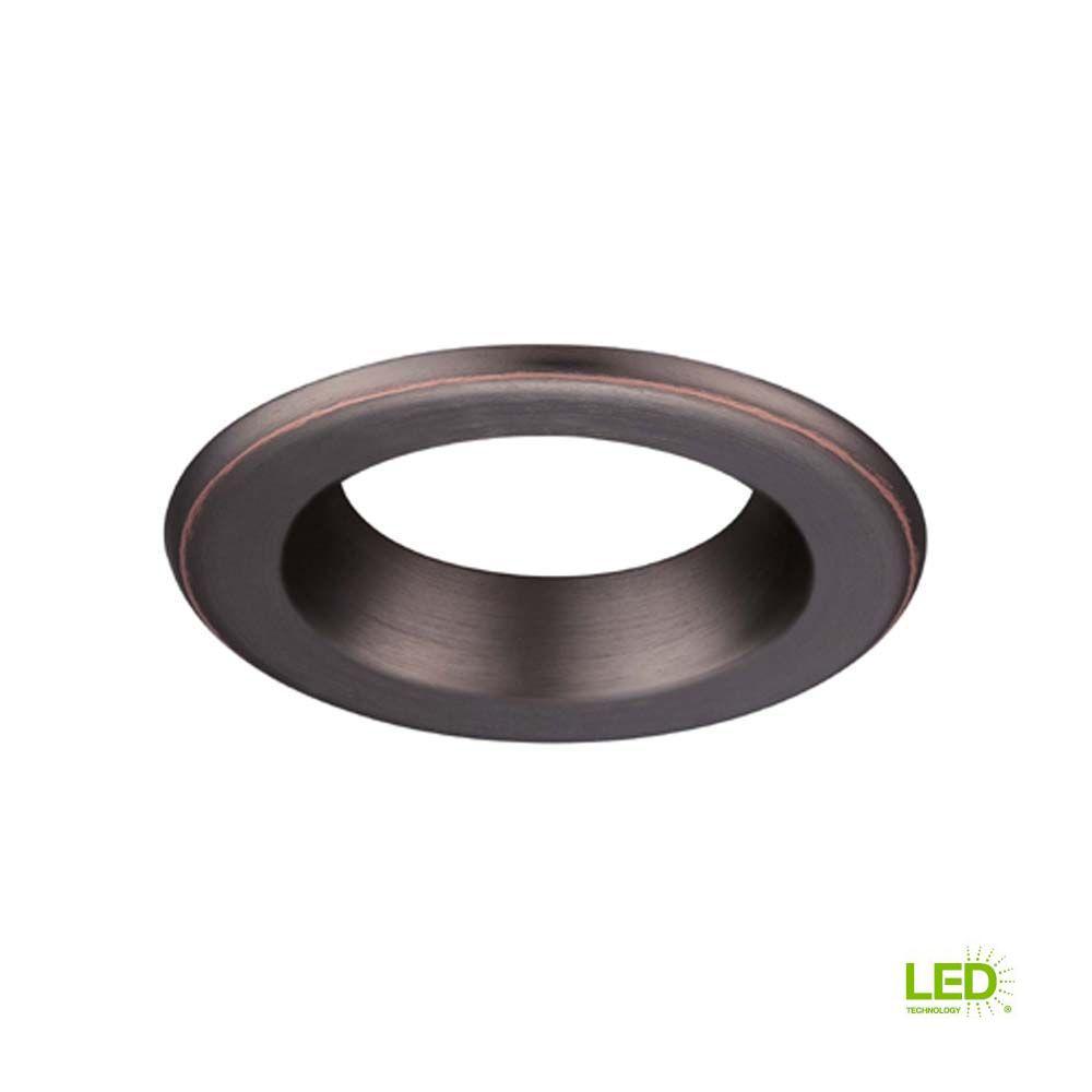 Envirolite 4 In Decorative Bronze Trim Ring For Led Recessed Light