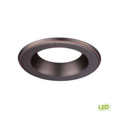 4 in. Decorative Bronze Trim Ring for LED Recessed Light with Trim Ring