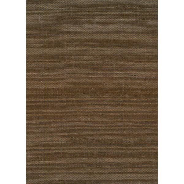 Seabrook Designs Chocolate Sisal Grasscloth Wallpaper NR170X