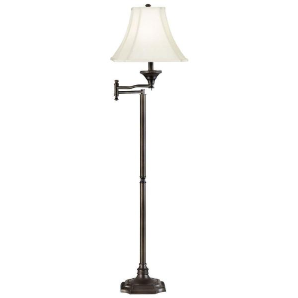 Wentworth 59 in. Burnished Bronze Swing Arm Floor Lamp