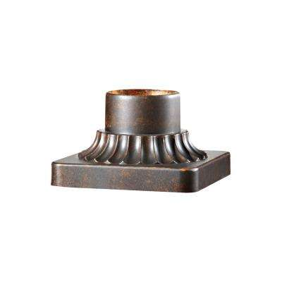 3 in. Walnut Outdoor Die-Cast Aluminum Pier Mount Base