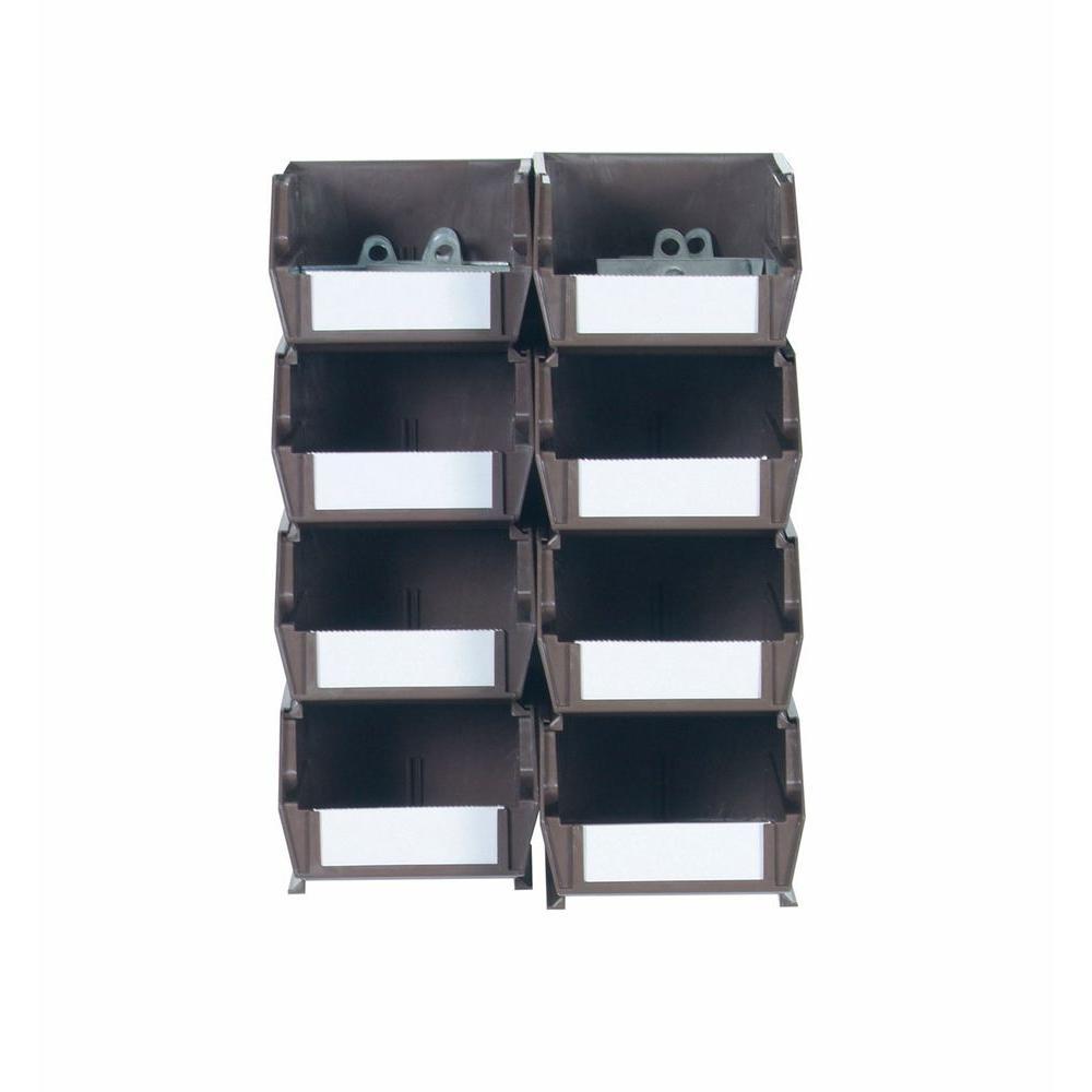 4-1/8 in. W x 3 in. H Brown Wall Storage Bin