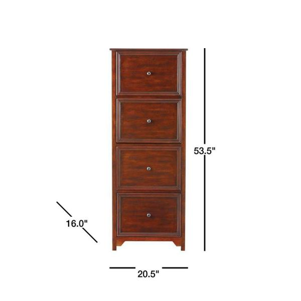 Home Decorators Collection Oxford Chestnut 53 5 In File Cabinet 2914420970 The Home Depot