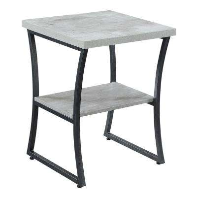 X-Calibur Faux Birch and Slate Gray End Table