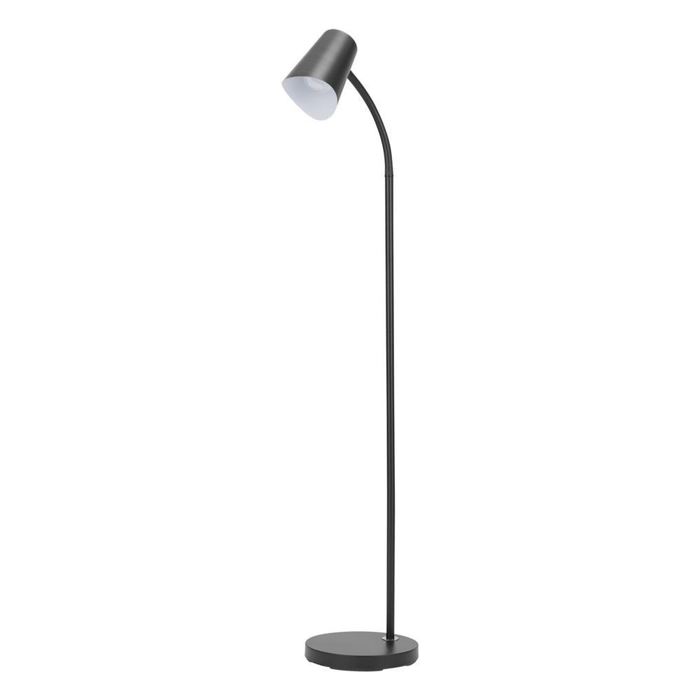 Globe Electric Rowen 58 In Matte Black Floor Lamp With