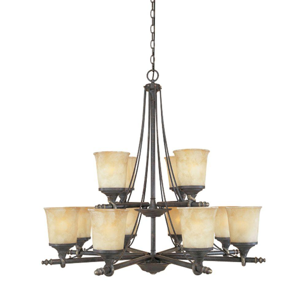 Designers Fountain Monte Carlo 9-Light Hanging Natural