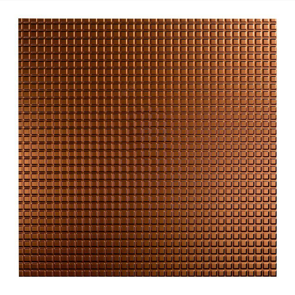 Fasade Square - 2 ft. x 2 ft. Lay-in Ceiling Tile in Oil Rubbed Bronze