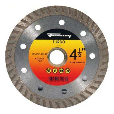 4-1/2 in. Turbo Continuous Rim Diamond Cut-Off Blade