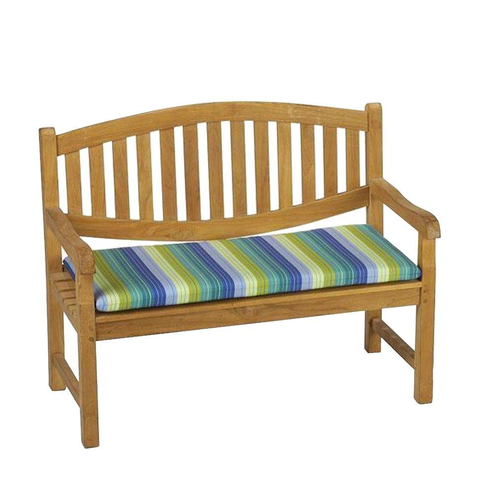 Home Decorators Collection Sunbrella Seaside Seville Outdoor Bench Cushion