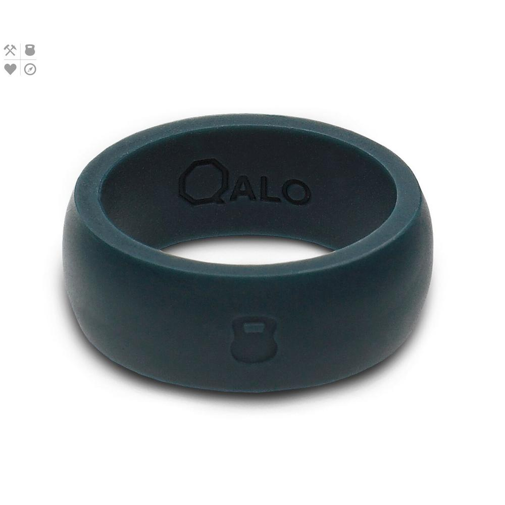 QALO Men's Slate Grey Classic Silicone Wedding Ring With