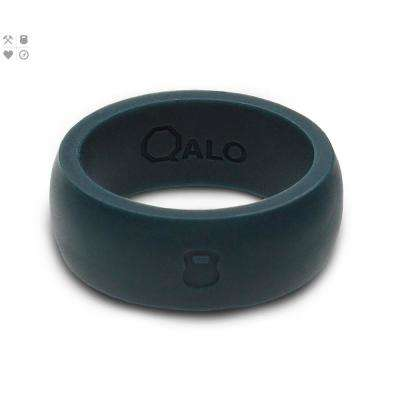 Men's Slate Grey Classic Silicone Wedding Ring with Kettlebell