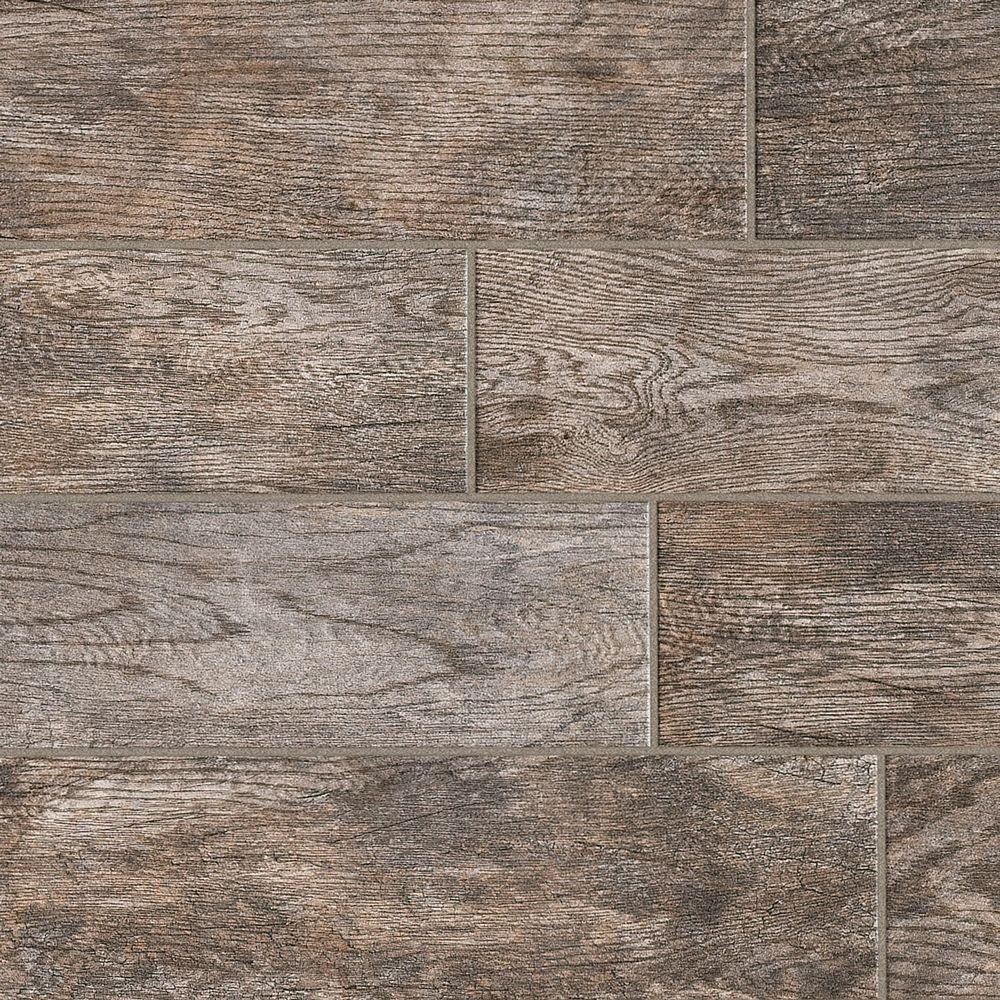 Marazzi Montagna Rustic Bay 6 in  x 24 in  Glazed Porcelain Floor and Wall  Tile (14 53 sq  ft  / case)