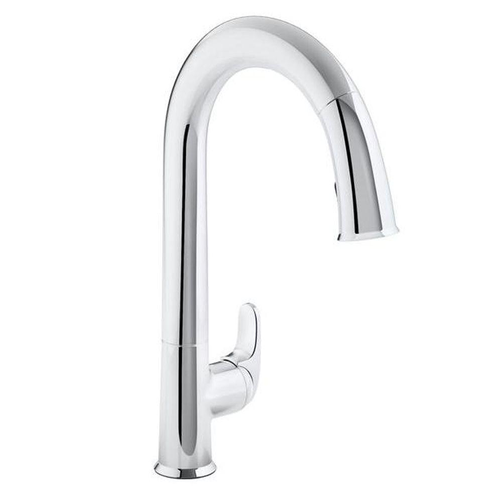 Kohler Sensate Ac Powered Touchless Kitchen Faucet In Polished Chrome With Docknetik And Sweep Spray