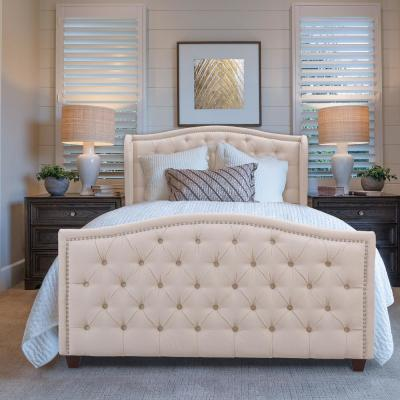 Marcella Sky Neutral Queen Upholstered Bed