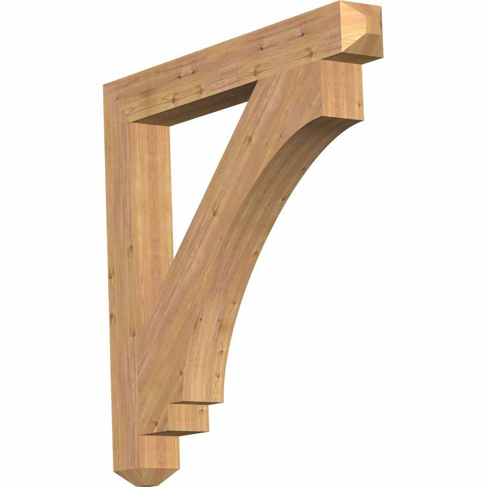 Ekena Millwork 5.5 in. x 48 in. x 48 in. Western Red Cedar Imperial Craftsman Smooth Bracket