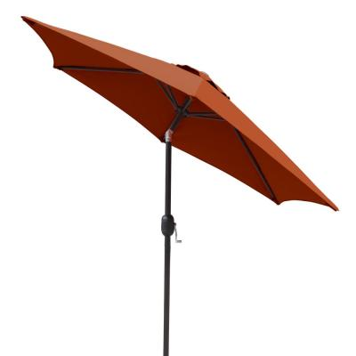 Bistro 7.5 ft. Hexagonal Market Umbrella with Terra Cotta Olefin Canopy