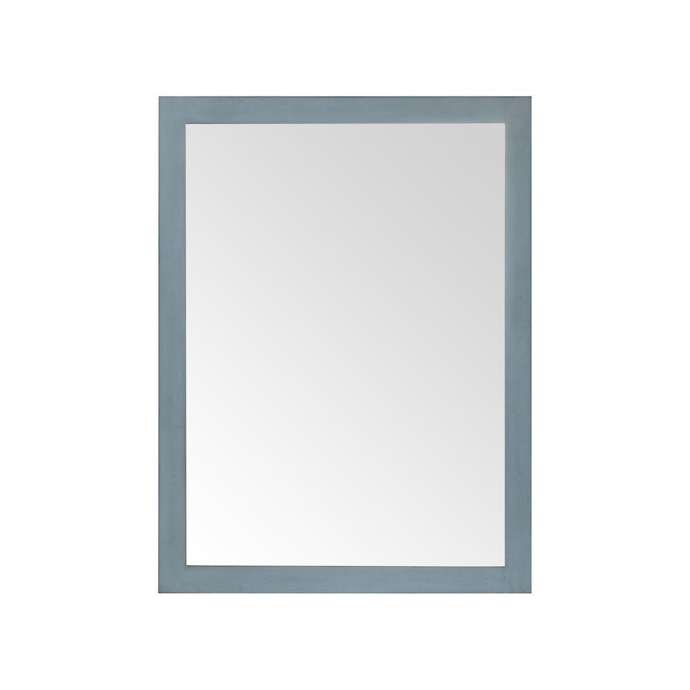 Highgate 24 in. W x 32 in. H Framed Rectangular Bathroom Vanity Mirror in Antique Manhattan Blue