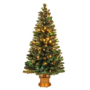 National Tree Company 3 Ft Fiber Optic Fireworks Evergreen  - 36 Fiber Optic Christmas Tree