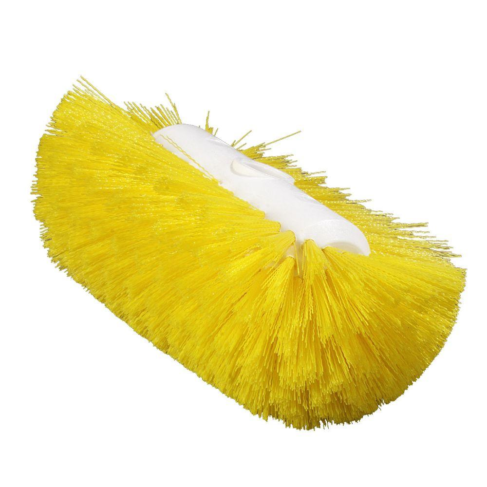 5.5 in. x 9.0 in. Yellow Tank and Kettle Scrub Brush