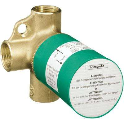 3.75 in. x 3.75 in. Trio Diverter Valve Rough in Brass