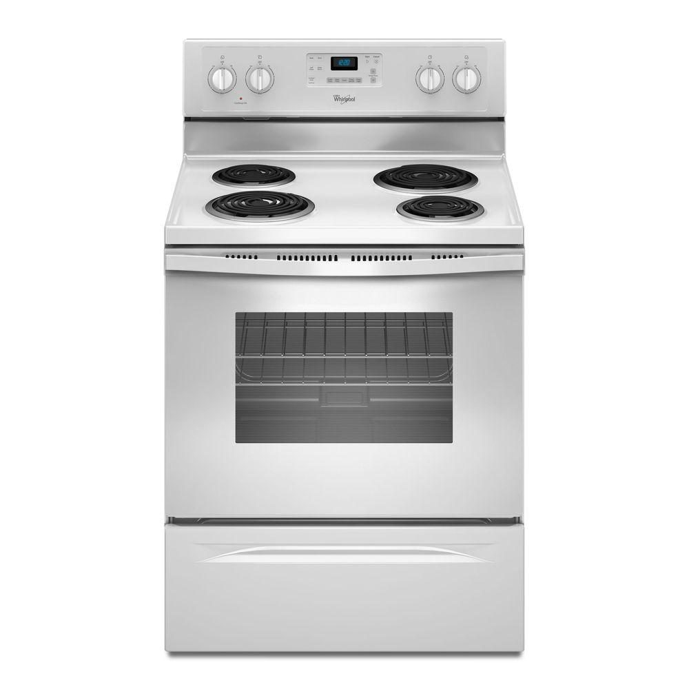 Electric Range with Self-Cleaning Oven in White