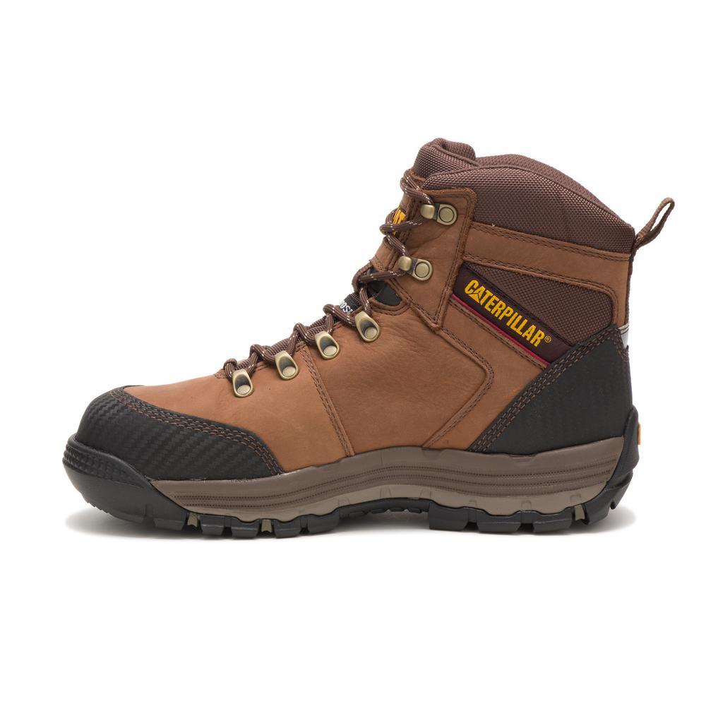 oferować rabaty specjalne wyprzedaże Hurt CAT Footwear Men's Size 12M Brown Leather Munising Waterproof Composite Toe  Work Boots