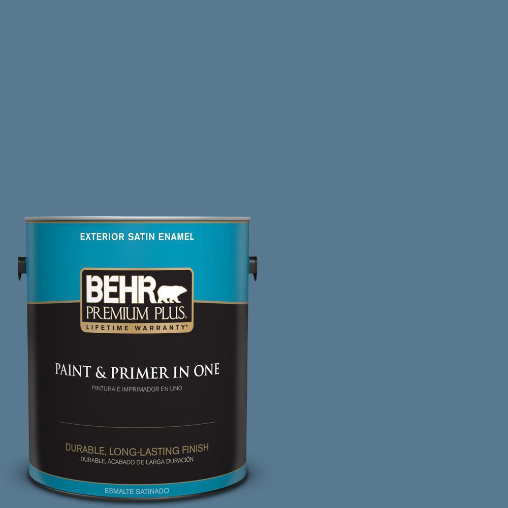 1 gal. #PPU14-03 Cayman Bay Satin Enamel Exterior Paint