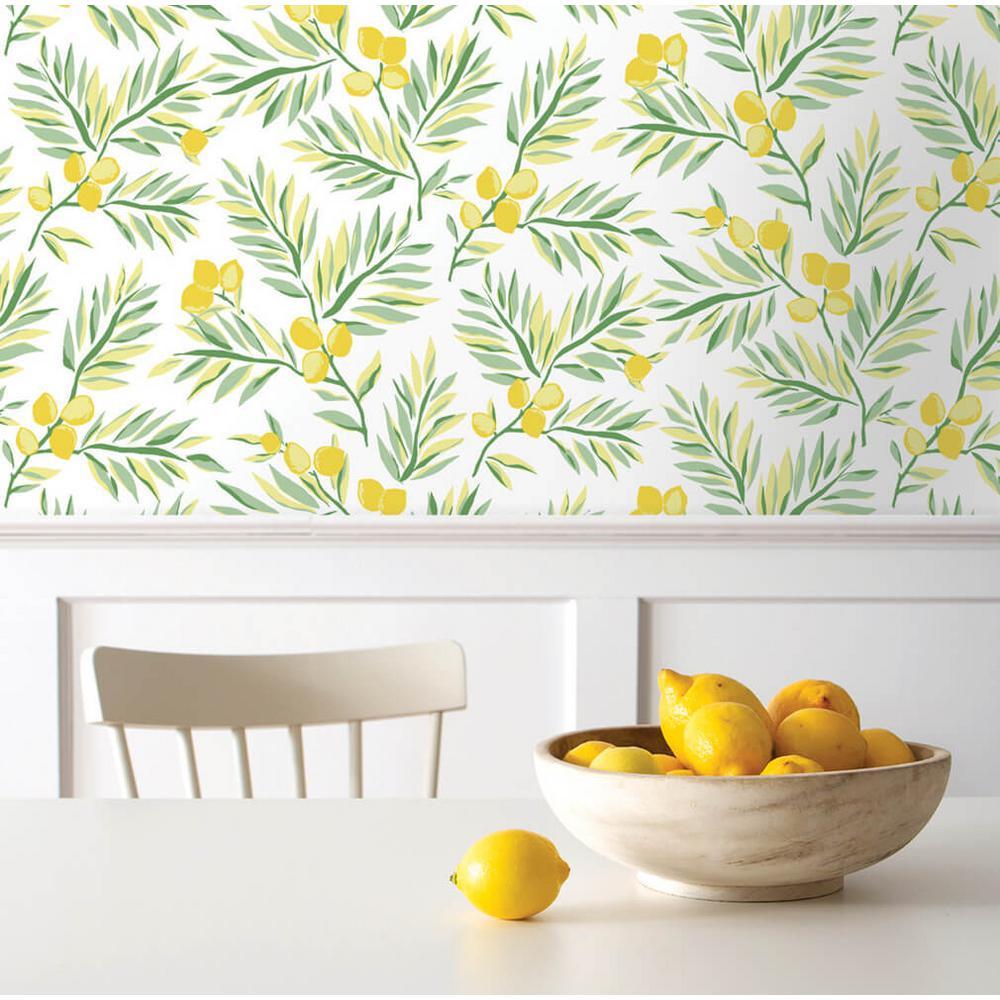 Lemon Branch Peel and Stick Wallpaper 30.75 sq. ft.