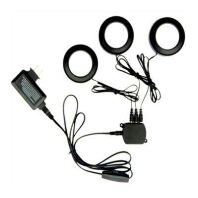 3-Light LED Black Puck Light Kit