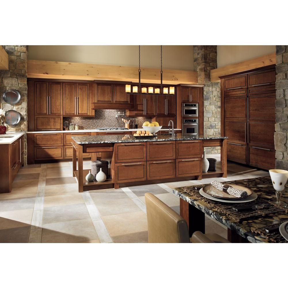 Cabinet Door Sample In Cognac, Kitchen Cabinet Sizes Kraftmaid