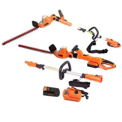 20-Volt Lithium-Ion Cordless 2-in-1 Pole and Portable Hedge Trimmer with 20 in. Laser Blade