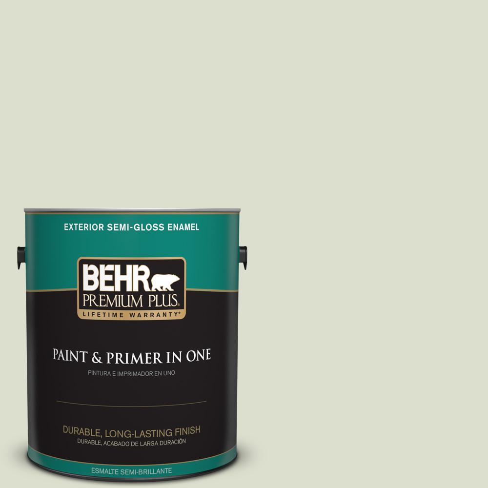 1 gal. #PPU10-15 Desert Springs Semi-Gloss Enamel Exterior Paint