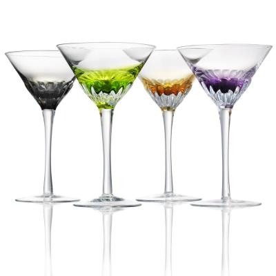 Assorted Color Solar Martini Glasses (Set of 4)
