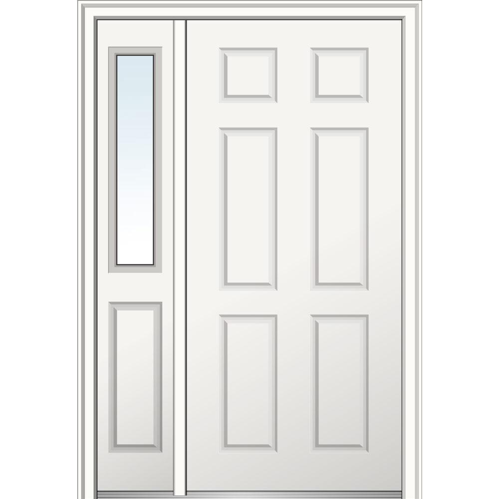 Mmi door 50 in x 80 in 6 panel left hand 6 panel primed for 16x80 door