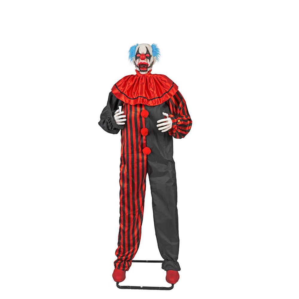 animated halloween clown with led illuminated eyes