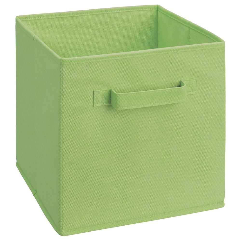 closetmaid cubeicals 11 in h x 105 in w x 105 in d fabric storage bin in green434 the home depot
