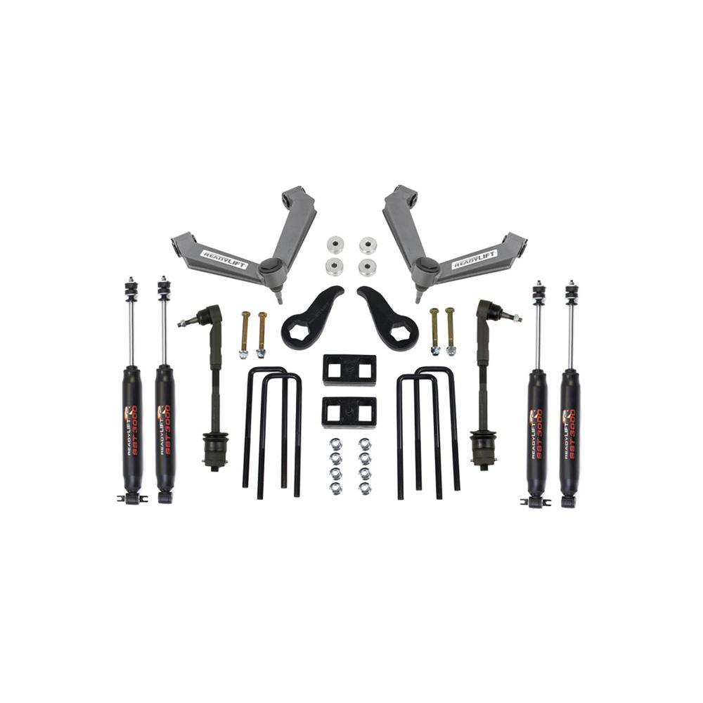 ReadyLIFT 11-18 Chevy 2500HD/3500HD Lift Kit w/ SST3000 Shocks 3 5in Front  1 0in Rear