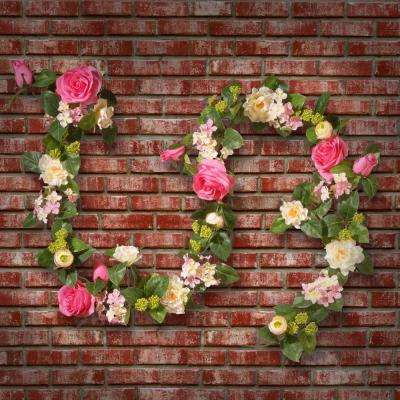 72 in. Rose and Hygrangea Garland