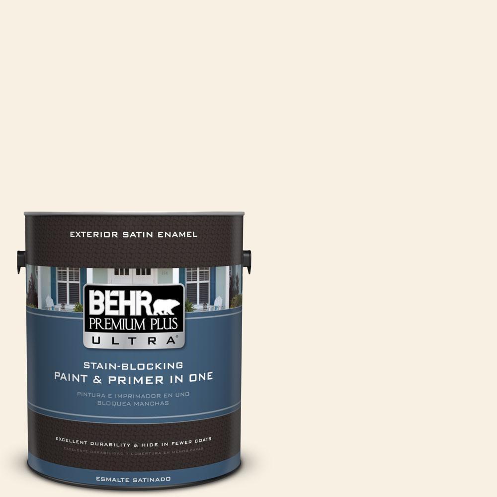 BEHR Premium Plus Ultra 1-gal. #GR-W14 Coconut Twist Satin Enamel Exterior Paint