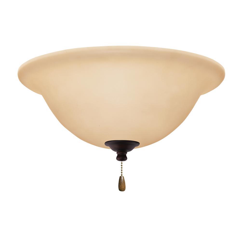 Amber Scavo 3-Light Venetian Bronze Ceiling Fan Light Kit