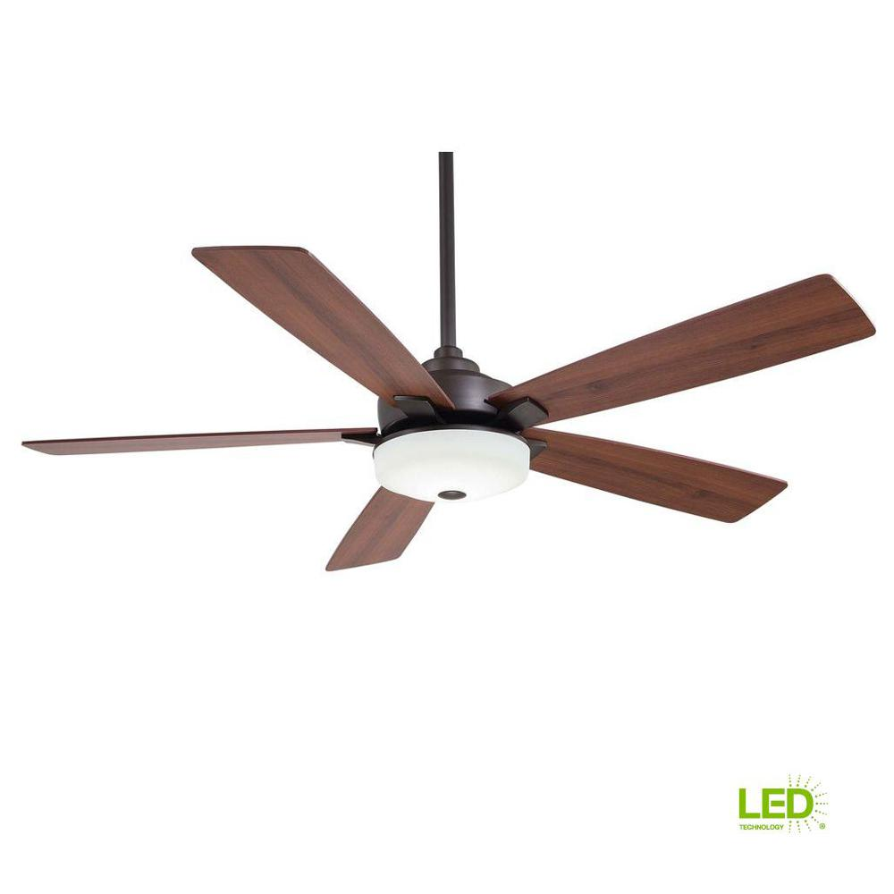 Home Decorators Collection Iron Crest 60 In Led Dc Motor Indoor Ceiling Fan Wiring Diagram Oil Rubbed Bronze With